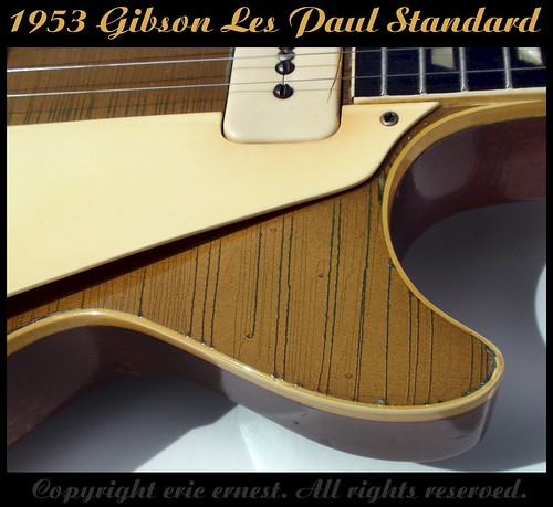 1953 Gibson Les Paul Standard guitar goldtop weather checking