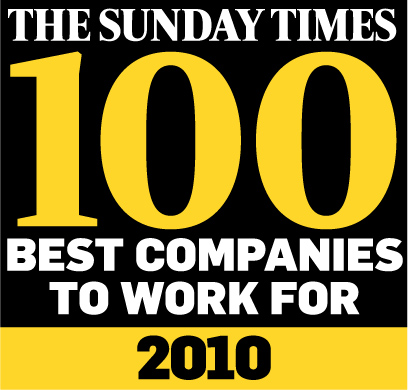 The Sunday Times Best 100 Companies: We're Moving Up!