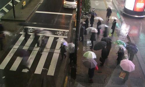 Akihabara snowing