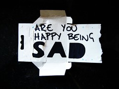 SAD (alshepmcr) Tags: happy typography stencil sad seasons text packaging typo