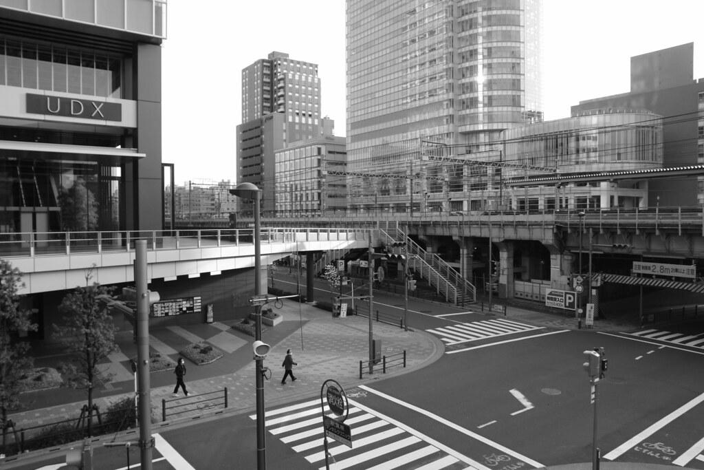 Akihabara UDX crossroad (monotone ver.)