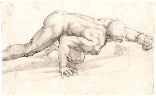 Crawling Male Nude