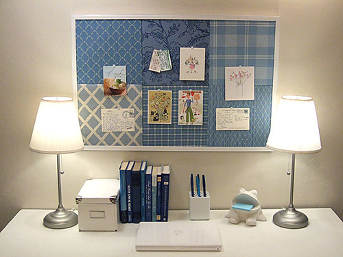 salvaged patchwork bulletin board por craftynest.