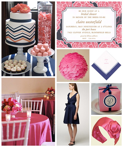 Pink and Navy Bridal Shower
