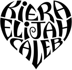 """Kiera"", ""Elijah"", & ""Caleb"" Heart Design"