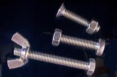 Wing Nut, nuts and Bolts (tudedude) Tags: macro thread screw model steel machine engineering tools workshop bolt precision nut fitting wingnut gbr fastener threaded nutbolt hexhead allenkey caphead machinescrew countersunk posidrive tudedude