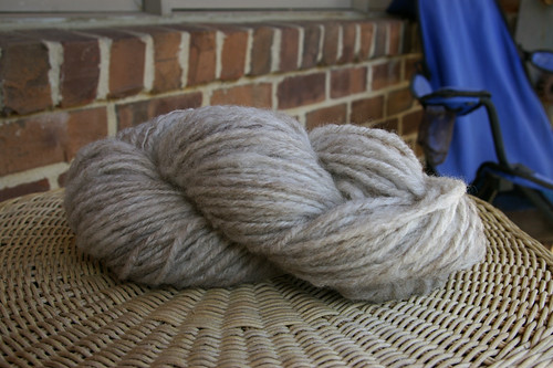Bare April 2009 - Grey Shetland - Skein
