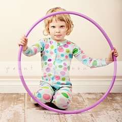 { hula girl } +1 action shot in comments (annie.manning {paint the moon}) Tags: childhood studio 50mm circles polkadots 365 dots jammies hulahoop barnwood paintthemoonactions