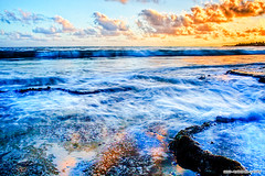 Clouds on Fire (Raphael Vaney) Tags: ocean africa sky beach clouds sunrise fire coast waves indian hdr mozambique pemba