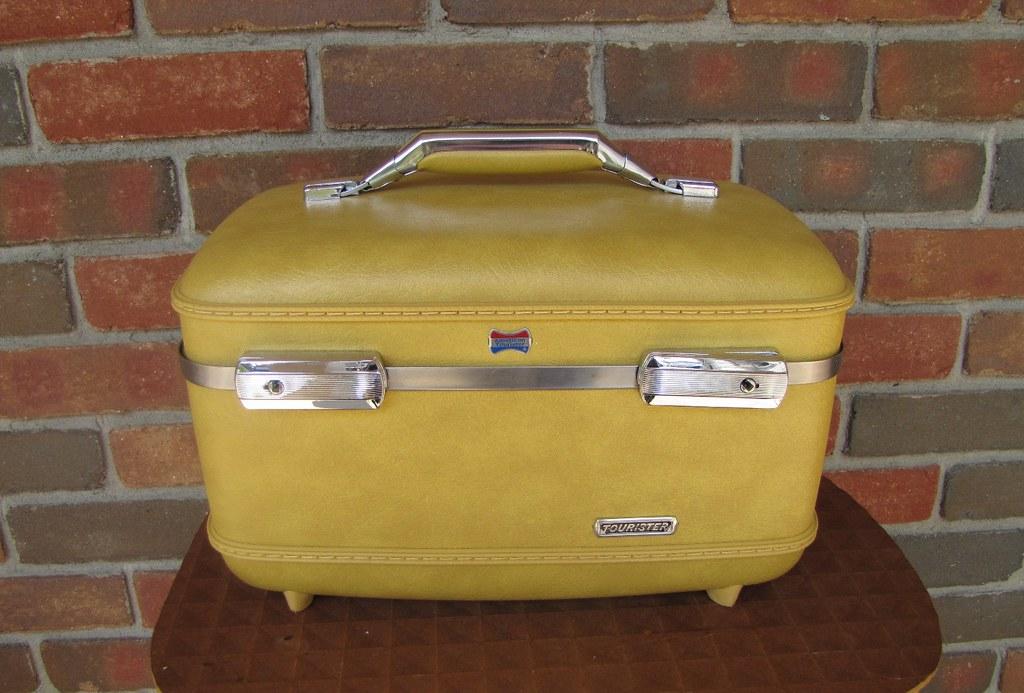 Vintage American Tourister Train Case Suitcase