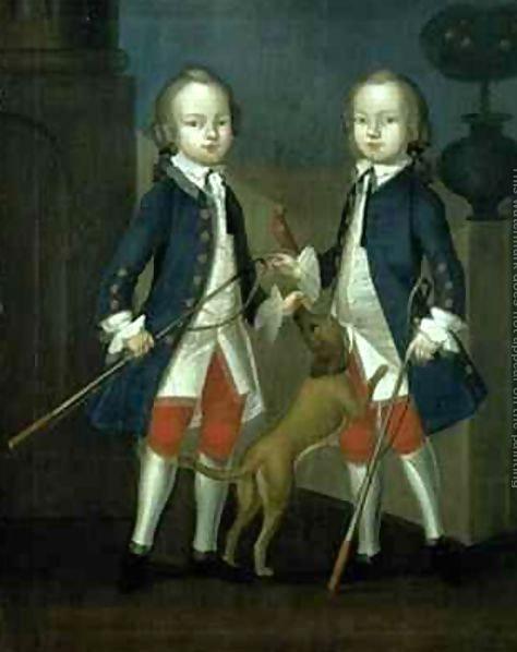 The Gosnall Twins Master Thomas and Master John Gosnall of Bentley Franz Cusaude