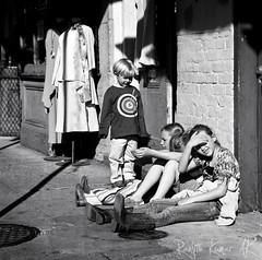 Kids on Bourbon street... (Orbitaldebris) Tags: bw 6x6 st kodak tmax neworleans bronica medium format bourbonstreet bourbon sq ai 2010 sqai orbitaldebris zenzanon150f35