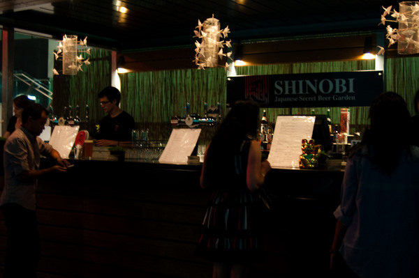 Shinobi Japanese beer garden at Beer DeLuxe