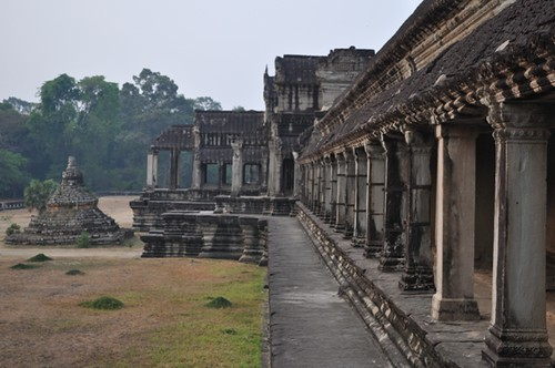 The back of the Angkor Wat