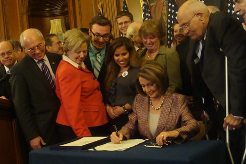 Speaker Nancy Pelosi signs legislation