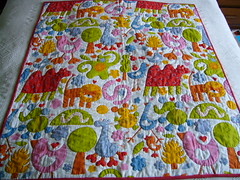 handquilted animal baby quilt