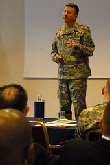 Amb. Holmes speaks to U.S. Army Africa at Great Lakes seminar, April 2010 (US Army Africa) Tags: africa army us great lakes seminar ambassador gen holmes crouch vicenza setaf usaraf ldesp
