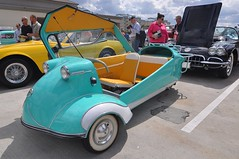 1956 Messerschmitt KR200 Kabinenroller at Amelia Island 2010 (gswetsky) Tags: island antique auction amelia 1956 concours 2010 messerschmitt kabinenroller delegance kr200