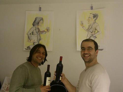 Marcello e Daniele e le loro caricature
