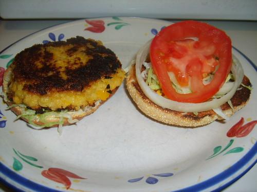 Golden Veggie Burgers