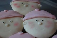 Baby shower cupcakes (Carlas Cake Emporium) Tags: baby girl shower cupcake sponge
