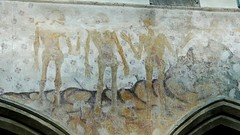 Three living and the Three Dead medieval wall painting raunds northamptonshire