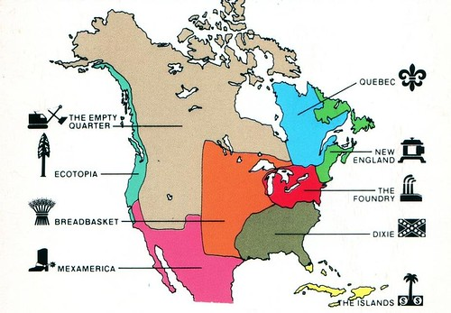 the nine nations of North America (by: Joel Garreau)