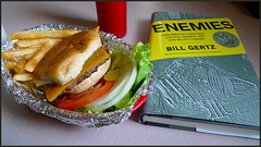 "Lunch with ""Enemies"".... (Blackhorse17) Tags: rural lunch book burger fries arkansas lakeview anthonys enemies flyoveramerica"