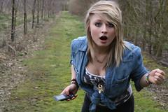 (LaurenNicole.) Tags: girl field phone shocked laurenknight lozzabeyyy