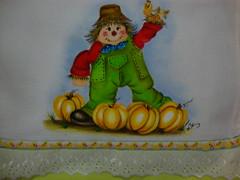 """Espantalho feliz"" (Lizete artes) Tags: espantalho pinturatecido panodeprato panodeparato lizeteartes"