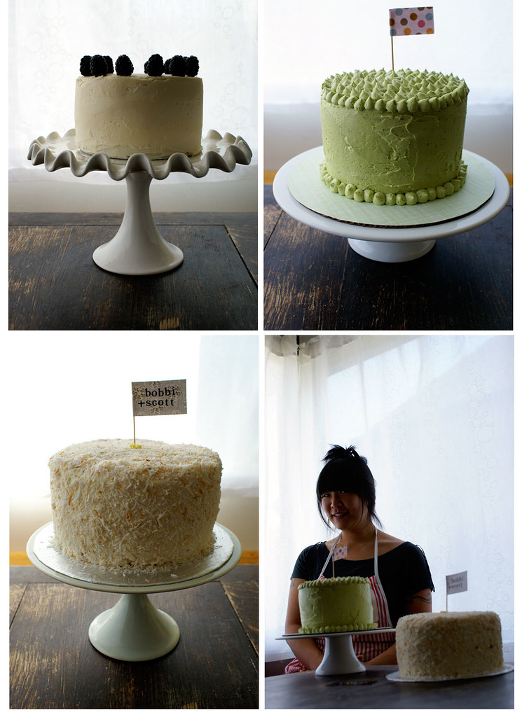 wheee! buttercream wedding cakes!