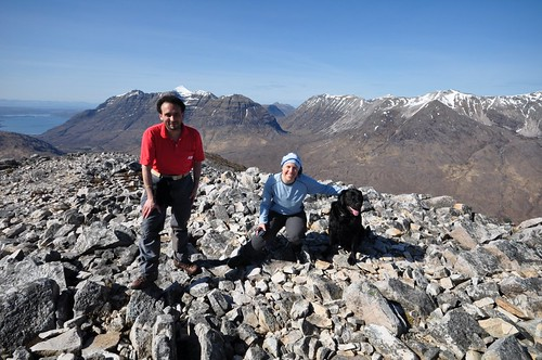 Stephan, Nathalie and Enzo on top of Sgurr Dubh