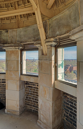 Compton Hill Water Tower, in Saint Louis, Missouri, USA - view of interior of tower