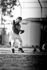 IMG_0465e (carrier4) Tags: arizona blackandwhite color kids youth baseball running highfive batting chandler pitching throwing fielding sunflare hitting littleleague baserunner