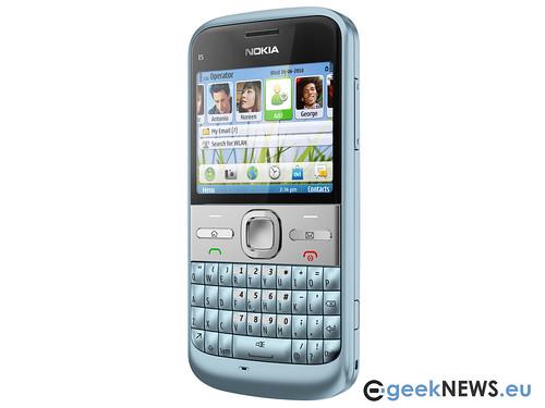 nokia e5 white. Nokia E5 Sky Blue