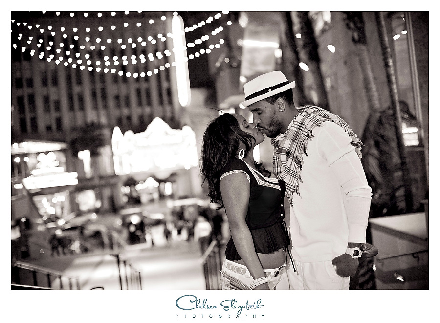 Hollywood engagement session at hollywood and highland in front of el capitan theatre