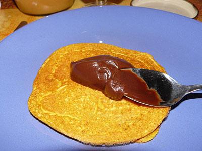 pancakes à la courge et pâte à tartiner.jpg
