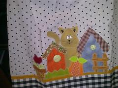 Capa de galo de gua (Dipano Ateli) Tags: de galinha pano patchwork prato cozinha jogos tecido aplicao apliqu dipano