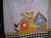 Capa de galão de água (Dipano Ateliê) Tags: de galinha pano patchwork prato cozinha jogos tecido aplicação apliqué dipano