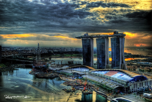 Sunrise over The Marina Bay Sands®