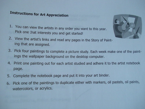 Art Appreciation Instructions