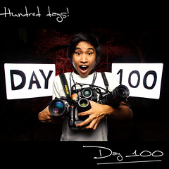 Day 100: Hundred Days!!! (L S G) Tags: portrait selfportrait sb600 hundred d3 day100 lsg sb24 project365 365days strobist 365daysproject nikond3 365daysvv