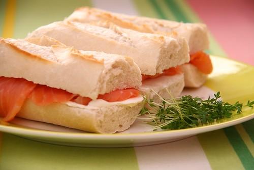 Salmon Cream Cheese Sandwich