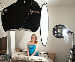 Hayley's Setup Shot (IsaacMTSU) Tags: cactus portrait girl beauty 35mm silver pose studio diy photo glamour nikon girlfriend shoot panel g flash sb600 indoor headshot diffusion nikkor f18 cheap bounce afs reflector d60 v4 hotshoe interfit triggers nikond60 v4s strobist 5in1