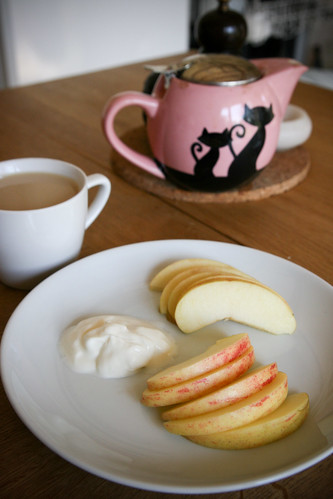 Apple with greek yogurt