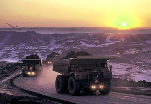 Trucks at Alberta Tar Sands