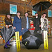At the re-launch of Kogan Page's Creating Success series at St Pancras: (from left) Miriam Robinson Foyles, Julia Kingsford Foyles, Dominic Kennerk Waterstones.com, Tom Goddard Waterstones.com and Rachael Lloyd Foyles