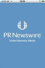 PR Newswire iPhone app: loading screen