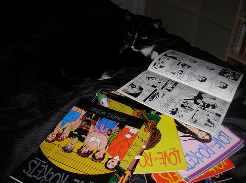 Squeaky reading Love and Rockets