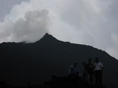 Pacaya Volcano With Smoke